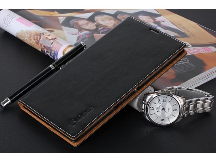 Чехол-книжка для Sony Xperia Z Ultra C6802/C6833 черный кожаный..
