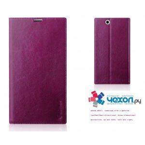 Фирменный чехол-книжка из качественной импортной кожи с мультиподставкой для Sony Xperia Z Ultra фиолетовый