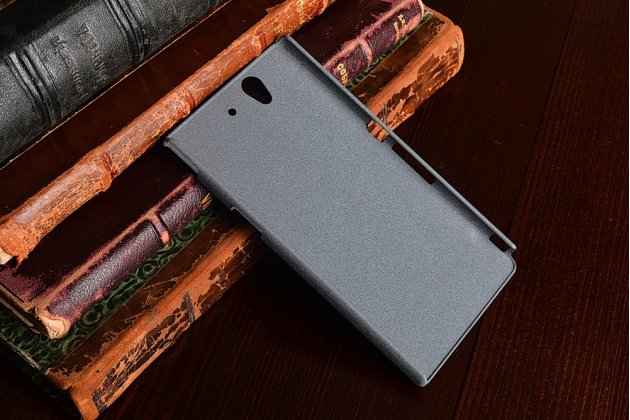 Фирменная задняя панель-крышка-накладка из тончайшего и прочного пластика для Sony Xperia Z C6602/C6603 (L36h) серая