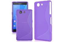 Фирменная ультра-тонкая полимерная из мягкого качественного силикона задняя панель-чехол-накладка для Sony Xperia Z1 Compact D5503 фиолетовая