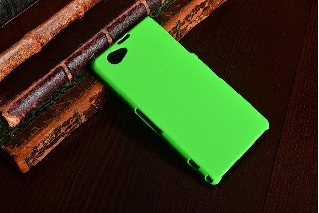 Фирменная задняя панель-крышка-накладка из тончайшего и прочного пластика для Sony Xperia Z1 Compact D5503 зеленая
