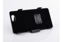 Чехол-бампер со встроенной усиленной мощной батарей-аккумулятором большой повышенной расширенной ёмкости 3500mAh для Sony Xperia Z1 Compact D5503 черный + гарантия