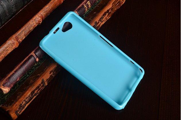 Фирменная ультра-тонкая полимерная из мягкого качественного силикона задняя панель-чехол-накладка для Sony Xperia Z1 Compact D5503 голубая