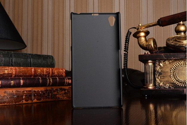 Фирменная ультра-тонкая пластиковая задняя панель-чехол-накладка для Sony Xperia Z1 (C6903) черная