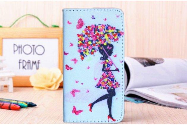"""Фирменный уникальный необычный чехол-книжка для Sony Xperia Z1 (C6903) """"тематика Девочка"""""""