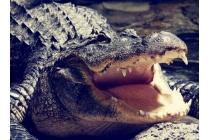 Фирменный роскошный эксклюзивный чехол с объёмным 3D изображением кожи крокодила для Sony Xperia Z2 (D6503) черного цвета . Только в нашем магазине. Количество ограничено