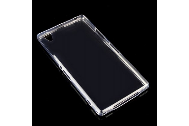 Фирменная ультра-тонкая полимерная силиконовая мягкая задняя панель-чехол-накладка для Sony Xperia Z2 D6503/D6502/D650/L50W прозрачная