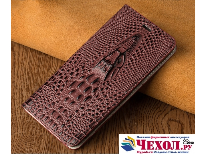 Фирменный роскошный эксклюзивный чехол с объёмным 3D изображением кожи крокодила для Sony Xperia Z3 D6603/ Z3 ..