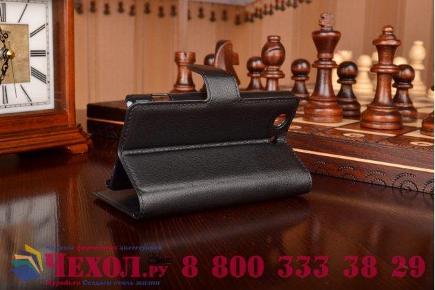 Фирменный чехол-книжка из качественной импортной кожи с мульти-подставкой застёжкой и визитницей для Sony Xperia Z4 Compact (Сони Иксперия З4 Компакт) черный