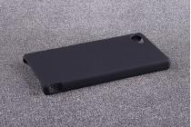"""Фирменная задняя панель-крышка-накладка из тончайшего и прочного пластика для Sony Xperia Z5 compact E5803 E5823/ Z5 Compact Premium 4.6"""" черная"""