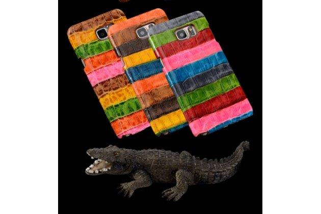 """Фирменная неповторимая экзотическая панель-крышка обтянутая кожей крокодила с фактурным тиснением для Sony Xperia Z5 compact E5803/E5823 4.6""""   тематика """"Тропический Коктейль"""". Только в нашем магазине. Количество ограничено."""