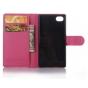 Фирменный чехол-книжка для Sony Xperia Z5 compact E5803/E5823/ Z5 Compact Premium 4.6 розовый с окошком для вх..