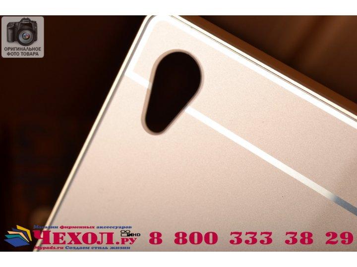 Фирменная для Sony Xperia Z5 / Z5 Dual Sim E6603/E6633 5.2 металлическая задняя панель-крышка-накладка из тонч..
