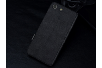 """Фирменный чехол-книжка для Sony Xperia Z5 compact E5803/E5823/ Z5 Compact Premium 4.6""""  черный с окошком для входящих вызовов и свайпом водоотталкивающий"""
