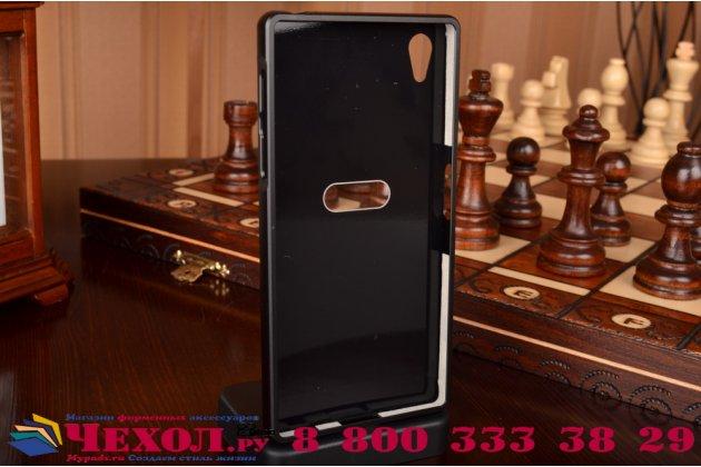 Фирменная для Sony Xperia Z5 / Z5 Dual Sim E6603/E6633 5.2 металлическая задняя панель-крышка-накладка из тончайшего облегченного авиационного алюминия черная