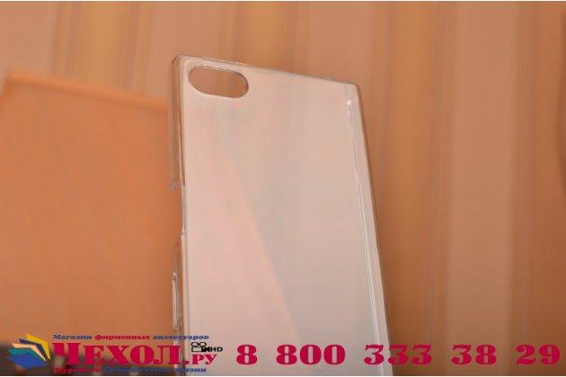 """Фирменная задняя панель-крышка-накладка из тончайшего и прочного пластика для Sony Xperia Z5 compact E5803 E5823/ Z5 Compact Premium 4.6"""" прозрачная"""