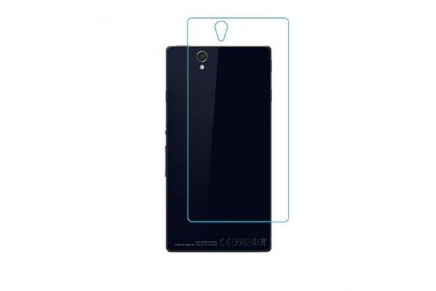 Фирменное защитное закалённое противоударное стекло премиум-класса из качественного японского материала с олеофобным покрытием для Sony Xperia Z C6602/C6603 (L36h) на заднюю крышку