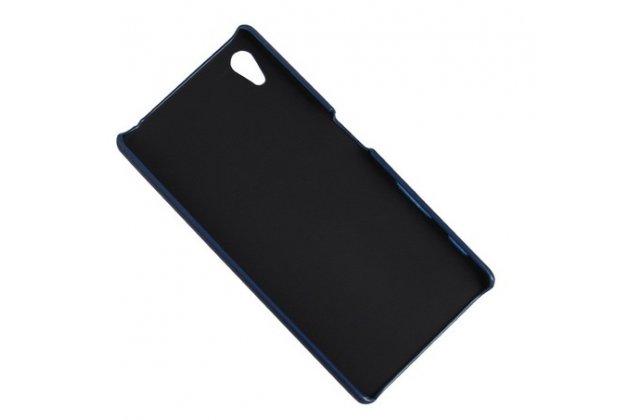 """Фирменная роскошная элитная премиальная задняя панель-крышка для Sony Xperia Z5 / Z5 Dual Sim E6603/E6633 5.2""""  из качественной кожи буйвола с визитницей белая"""