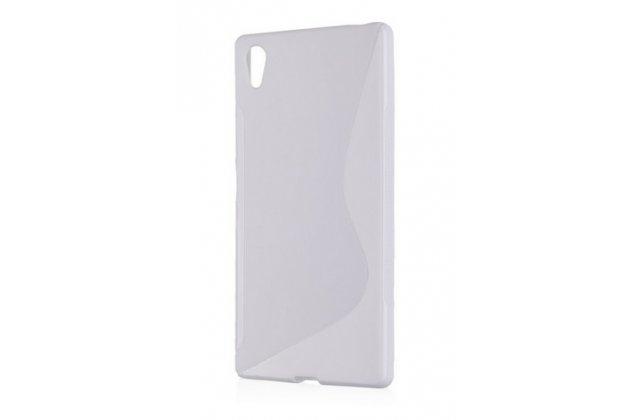 Фирменная ультра-тонкая полимерная из мягкого качественного силикона задняя панель-чехол-накладка для Sony Xperia Z5 / Z5 Dual Sim E6603/E6633 5.2 белая матовая