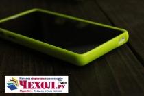 Фирменная ультра-тонкая полимерная из мягкого качественного силикона задняя панель-чехол-накладка для Sony Xperia ZR желтая