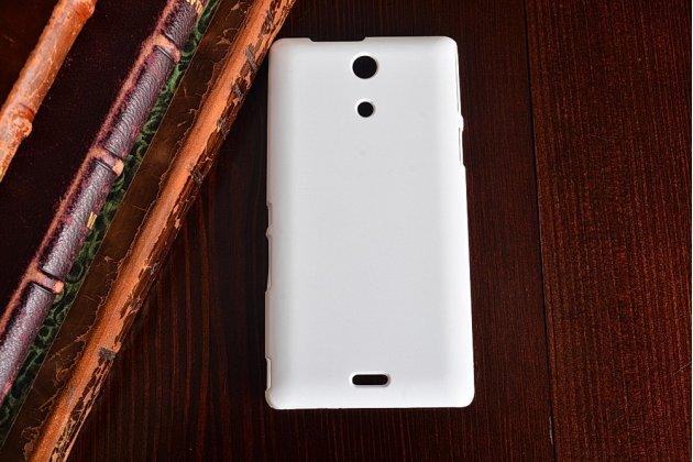 Фирменная задняя панель-крышка-накладка из тончайшего и прочного пластика для Sony Xperia ZR /ZR LTE C5502/C5503 /M36h белая