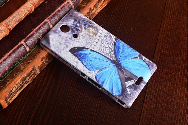Фирменная пластиковая задняя панель-чехол-накладка с безумно красивым расписным рисунком Бабочки для Sony Xperia ZR