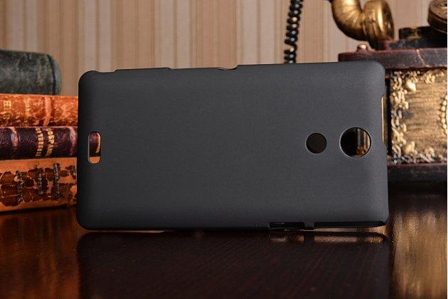 Фирменная задняя панель-крышка-накладка из тончайшего и прочного пластика для Sony Xperia ZR /ZR LTE C5502/C5503 /M36h черная