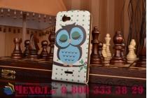 """Фирменный вертикальный откидной чехол-флип для Sony Xperia ZR /ZR LTE C5502/C5503 """"тематика Сова"""""""