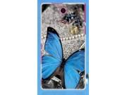 Фирменная пластиковая задняя панель-чехол-накладка с безумно красивым расписным рисунком Бабочки для Sony Xper..