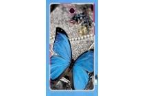 Фирменная силиконовая задняя панель-чехол-накладка с безумно красивым расписным рисунком Бабочки для Sony Xperia ZR