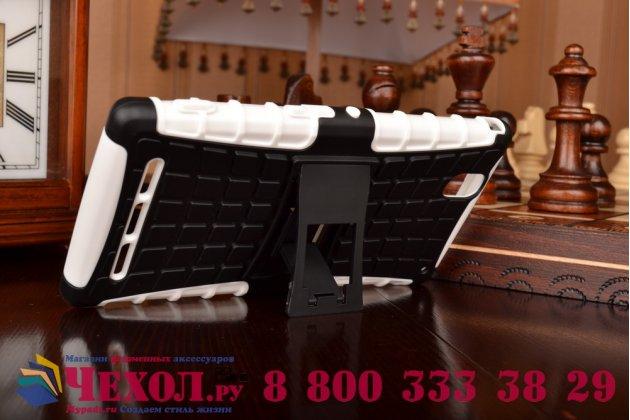 Противоударный усиленный ударопрочный фирменный чехол-бампер-пенал для Sony Xperia T2 Ultra/ T2 Ultra Dual D5303/D5322 белый