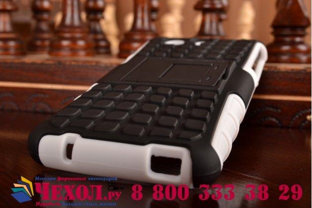 Противоударный усиленный ударопрочный фирменный чехол-бампер-пенал для Sony Xperia Z4 Compact белый