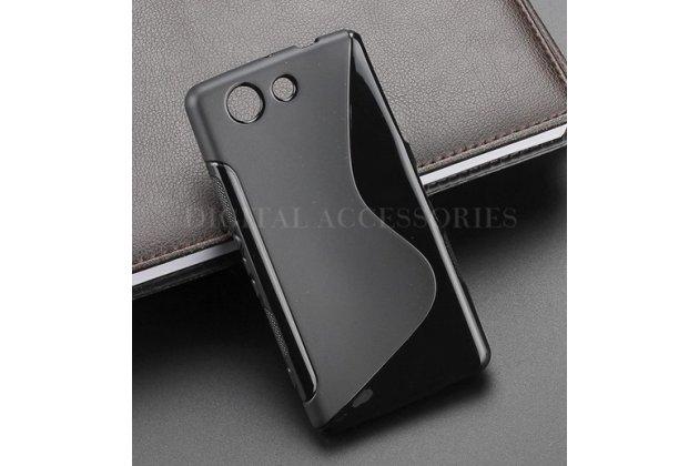 Фирменная ультра-тонкая полимерная из мягкого качественного силикона задняя панель-чехол-накладка для Sony Xperia Z4 Compact черный