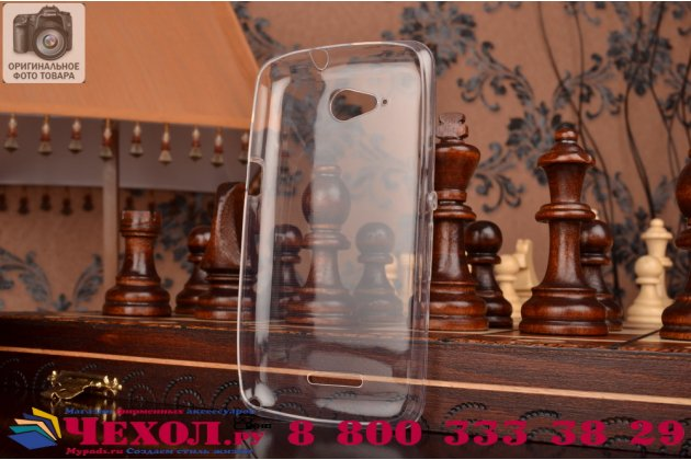 Фирменная ультра-тонкая полимерная из мягкого качественного силикона задняя панель-чехол-накладка для Sony Xperia E4G/ E4G Dual E2003/E2033 белая