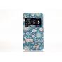 Фирменный чехол-книжка с безумно красивым расписным рисунком Оленя в цветах на Sony Xperia E4G/ E4G Dual E2003..