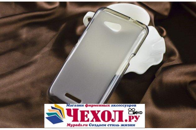 Фирменная ультра-тонкая полимерная из мягкого качественного силикона задняя панель-чехол-накладка для Sony Xperia E4G/ E4G Dual E2003/E2033 черная