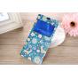 Фирменный чехол-книжка с безумно красивым расписным рисунком Оленя в цветах для Sony Xperia T3 D5102/D5103 с о..