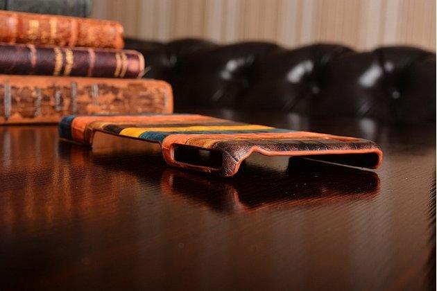 """Фирменная неповторимая экзотическая панель-крышка обтянутая кожей крокодила с фактурным тиснением для Sony Xperia Z2 (D6503) тематика """"Африканский Коктейль"""". Только в нашем магазине. Количество ограничено."""