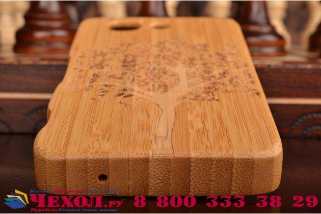 Фирменная оригинальная деревянная из натурального бамбука задняя панель-крышка-накладка для Sony Xperia Z3 Compact D5803