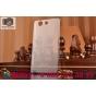 Фирменная ультра-тонкая пластиковая задняя панель-чехол-накладка для Sony Xperia Z3 Compact D5803 прозрачная..