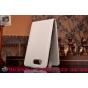 Фирменный вертикальный откидной чехол-флип для Сони З3 Компакт Д5803 белый кожаный..