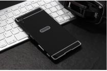 """Фирменная металлическая задняя панель-крышка-накладка из тончайшего облегченного авиационного алюминия для Sony Xperia Z5 Premium / Z5 Premium Dual E6853 / E6883 5.5"""" черная"""