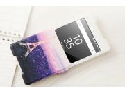 Фирменный уникальный необычный чехол-подставка с окошком для вызовов для Sony Xperia Z5 Premium / Z5 Premium D..