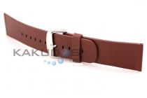 Фирменный сменный кожаный ремешок для умных смарт-часов Apple Watch 42mm кофейный из качественной импортной кожи