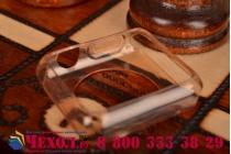 Фирменный ультра-тонкий силиконовый чехол-кейс-пенал для умных смарт-часов Apple Watch 38mm золотой