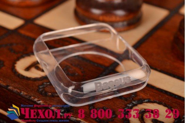 Фирменный ультра-тонкий силиконовый чехол-кейс-пенал для умных смарт-часов Apple Watch 42mm прозрачный