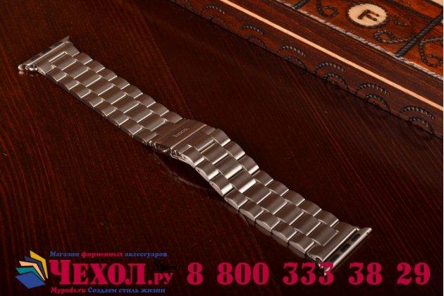 Фирменный сменный стальной ремешок для умных смарт-часов Apple Watch 38mm из нержавеющей стали с инструментами для вскрытия