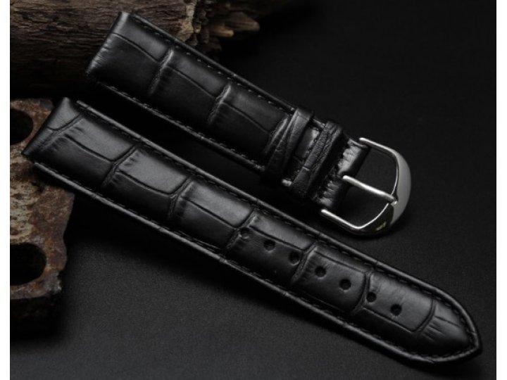 Фирменный сменный кожаный ремешок для умных смарт-часов Samsung Gear S2 Classic R7320 из лаковой кожи крокодил..