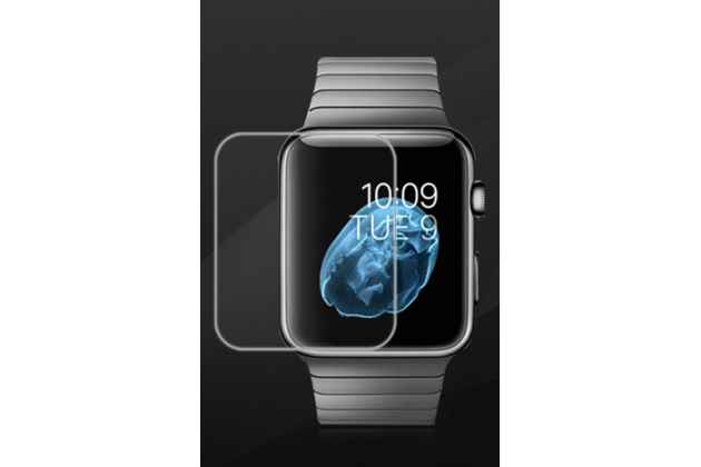 Фирменная оригинальная защитная пленка для умных смарт-часов Apple Watch 38mm глянцевая