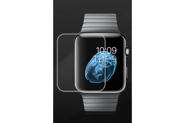 Фирменная оригинальная защитная пленка для умных смарт-часов Apple Watch 42mm глянцевая